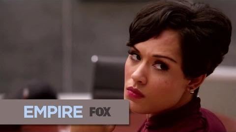 """Close Up Grace Gealy as """"Anika Calhoun"""" EMPIRE"""
