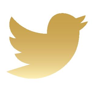 logo twitter gold