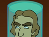 Thomas Jefferson's head
