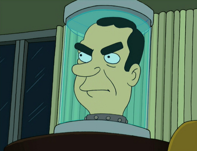 RICHARD NIXON'S HEAD IN A JAR