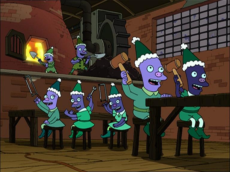 Futurama Christmas Episodes.Robot Santa S Elves Futurama Wiki Fandom Powered By Wikia