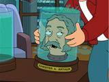 Chester A. Arthur's head
