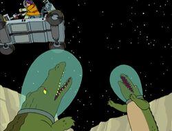 Space alligators