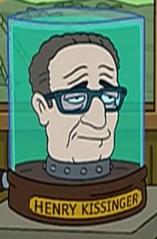 Henry Kissinger's head