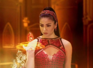 The Brilyante ng Apoy was last seen in Hara Pirena's possession.
