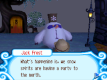 Jack Frost tells about the party