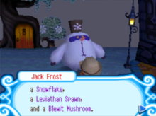 Jack Frost's 3 desired dishes