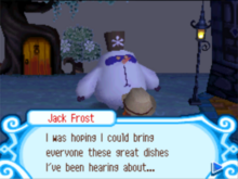 Jack Frost want to bring dishes