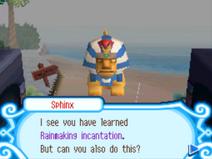 The Sphinx's first challenge succeeded