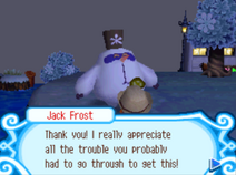 Jack Frost thanking the player