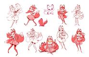 Concept art - Felicity character sheet