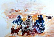 Trabajos en directo durante de los viajes por Argelia - Tamanraset-Janet-Biskra-Gerdaya-Argel - 1979