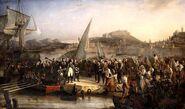 800px-Beaume - Napoleon Ier quittant lile dElbe - 1836