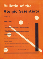 Bulletin Atomic Scientists Cover