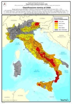 Classificazione sismica Italia 2006