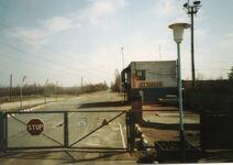 Entrance to zone of alienation around Chernobyl