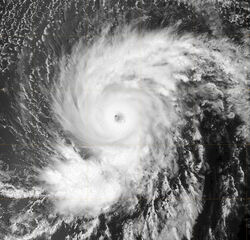 Hurricane Flossie 2007 August 11 Terra MODIS