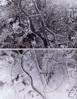 Nagasaki 1945 - Before and after