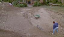 Dave digging pool