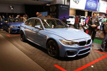 Light blue BMW M3 (F30) fr MIAS14