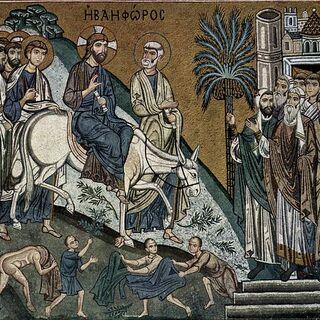 Mosaiken der Capella Palatina in Palermo, Szene: Einzug Christi in Jerusalem, um 1150