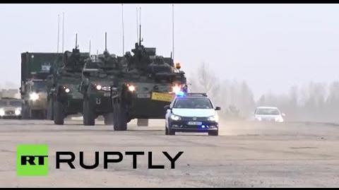 """Welcome-Home-Parade"" für US-Konvoi-Werbetour dem ""Dragoon Ride"" in Vilseck"