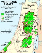 West Bank & Gaza Map 2007 (Settlements)