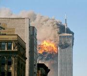 UA Flight 175 hits WTC south tower 9-11 edit