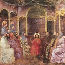 598px-Giotto - Scrovegni - -22- - Christ among the Doctors