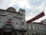 Merano WineFestival 2014 Banner façade Kurhaus
