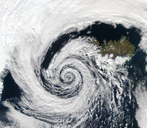Low pressure system over Iceland