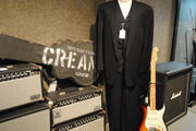 Gianni Versace designed Stage Suit, 1983-84 Fender Stratocaster Elite Model, 2005 Gibson ES-335 Crossroads Model Prototype 4, Music Man, Marshall (Bonhams auction 19226) close-up