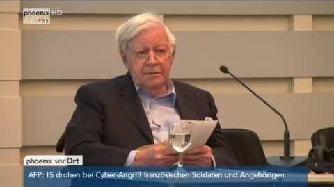 """""""Neue Wege bis 67"""" Rede von Helmut Schmidt zu """"Arbeiten im Alter"""" am 09.04.2015"""