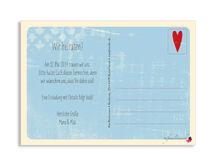 Save the date-Postkarte mit Empfängerfeld für handschriftliche Adresse