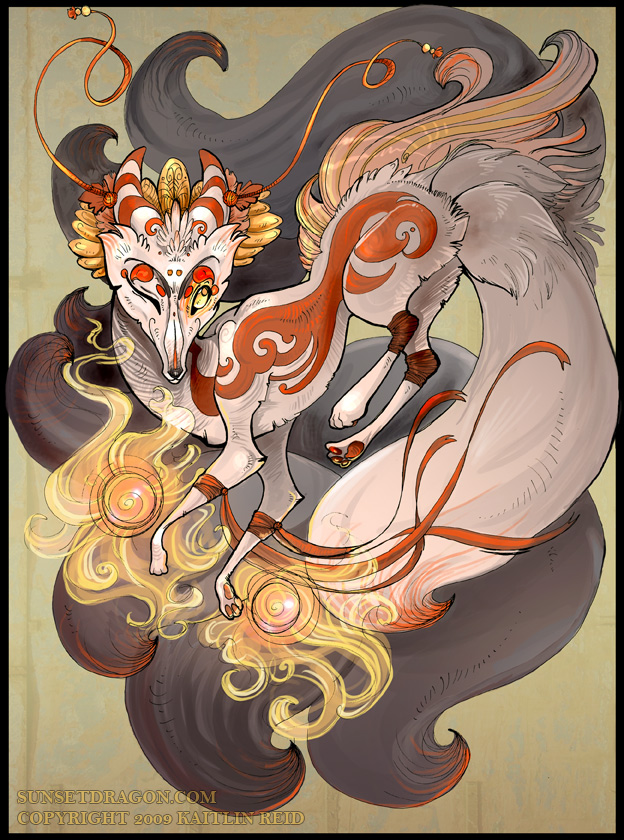 Asian myths kitune fox women