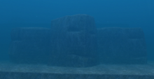 Marige Atoll Face-Shaped Rock
