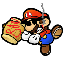 Paper mario with hammer preview