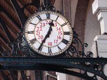 Clock in Kings Cross