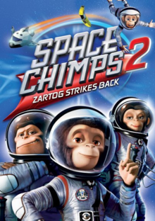 Space Chimps 2 Zartog Strikes Back 2010 DVD Cover