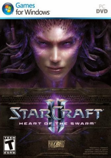 StarCraft II Heart of the Swarm 2013 Game Cover
