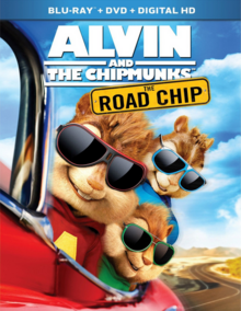 Alvin and the Chipmunks The Road Chip 2015 Blu-Ray DVD Cover