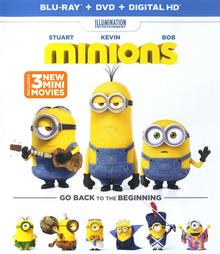 Minions 2015 DVD Cover