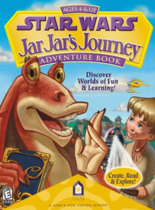 Star Wars Jar Jar's Journey Adventure Book 1999 Game Cover