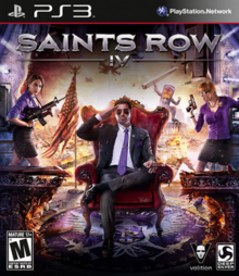 Saints Row IV 2013 Game Cover