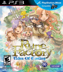 Rune Factory Tides of Destiny 2011 Game Cover