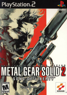 Metal Gear Solid 2 Sons of Liberty 2001 Game Cover