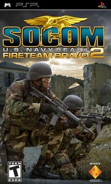 SOCOM U.S. Navy SEALs Fireteam Bravo 2 2006 Game Cover
