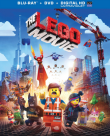 The Lego Movie 2014 Blu-Ray DVD Cover