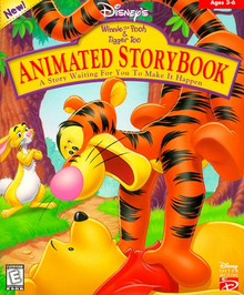 Disney's Winnie the Pooh & Tigger Too Animated Storybook 1999 Game Cover