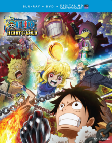 One Piece Heart of Gold 2017 Blu-Ray DVD Cover
